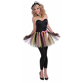 Amazon.com: 80's Tutu (Black/Green/Pink) Adult Accessory