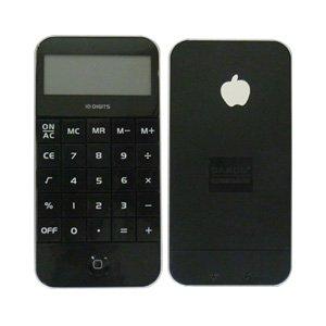 【i電卓 カラー:ブラック】iPhoneのような形をした電卓、計算機