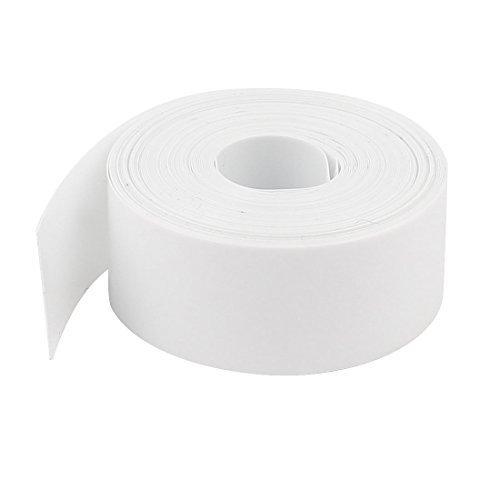 sourcingmapr-10m-lungo-23mm-pvc-calore-restringente-tubo-copertura-bianco-per-1-x-batteria-aa