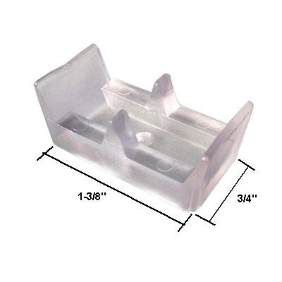 Framed Sliding Shower Door Clear Bumpers - (Set of 2) (Shower Glass Door Stopper compare prices)