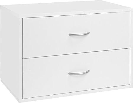 Organized Living freedomRail 2 Drawer OBox - White
