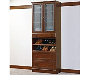 Sauder woodtrac closets 30 cabinet with for Woodtrac closets