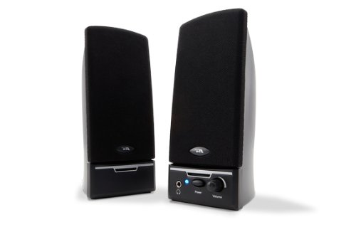 Cyber Acoustics CA-2012 Two Piece Amplified Computer Speaker System GreyB00006B9W3 : image