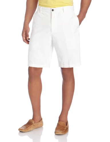 Dockers Men's Perfect Short D3 Classic Fit Flat Front, White Cap, 30W White Casual Shorts