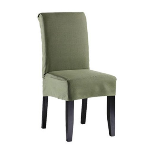 Sure Fit Twill Supreme Short Dining Room Chair Cover, Loden