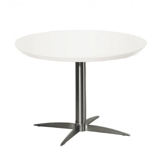 Cheap Havana End Table – Lacquer (White / Brushed Nickel) (14″H x 24″W x 24″D) (Havana ET)