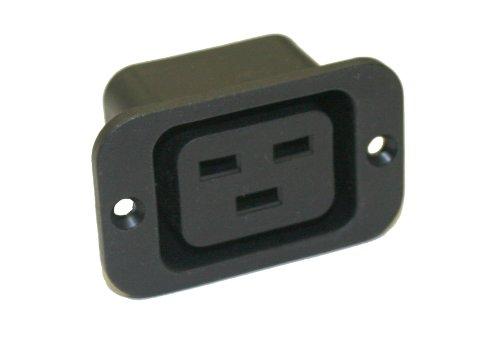 Interpower 83011351 Iec 60320 Sheet J Power Outlet, Iec 60320 Sheet J Socket Type, Black, 16A/20A Rating, 250Vac Rating