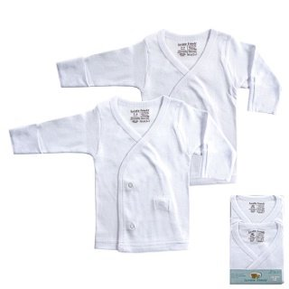 2-Pack Long Sleeve Side Snap Shirts (0-3 Months)
