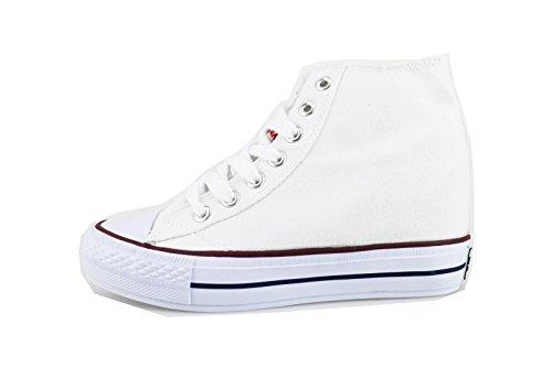 CARRERA JEANS sneakers donna 35 EU bianco tela AG560