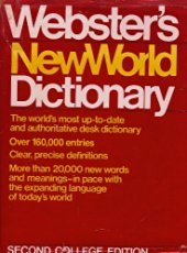 Webster's New World Dictionary: 2nd College Edition, Indexed