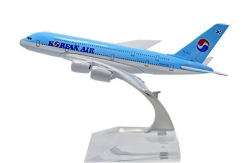 1400-16cm-air-bus-a380-korean-air-metal-airplane-model-plane-toy-plane-model