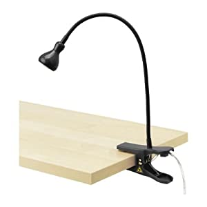 ikea jansjo led clamp spotlight black. Black Bedroom Furniture Sets. Home Design Ideas