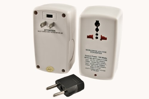 Simran Smf-100 Universal 100W Travel Voltage Converter For Both 110-Volt And 220/240-Volt Worldwide Use