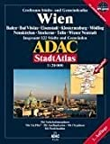 ADAC Stadtatlas Wien 1:20.000 Baden, Bad Vöslau, Eisenstadt, Klosterneuburg, Mödling, Neunkirchen, Stockerau, Tulln, Wiener Neustadt