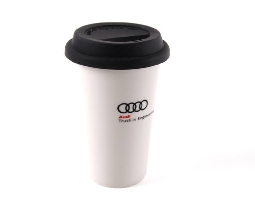 Genuine Audi Ceramic Cup With Silicone Lid