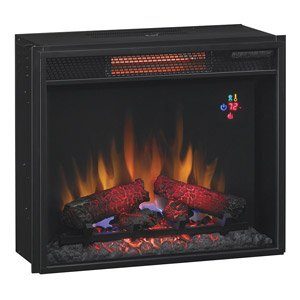 ClassicFlame 23-in Fixed Glass Spectrafire Infrared Quartz Electric Fireplace Insert - 23II210GRA picture B00F6WC6M2.jpg
