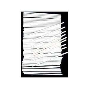 "6 X 5/32"" SUCKERSTICK Paper Sucker Lolly Lollipop Sticks 50 Count"