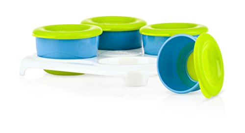 Nuby Garden Fresh Food Storage and Freezer Pots with Tray