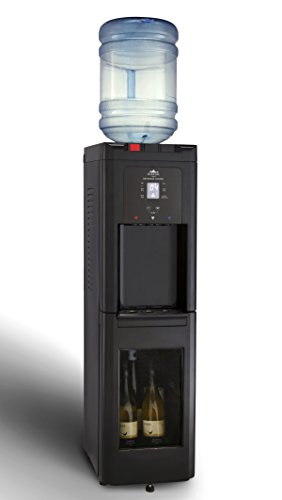 Glacial-Cold-Hot-and-Cool-Self-Cleaning-Tall-Black-Water-Cooler-Beverage-Center