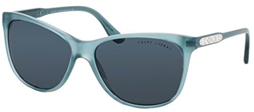 Ralph Lauren Rl8120 Sunglass-547687 Denim Vintage Effect ( Gray Lens)-58Mm