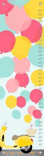 "Oopsy Daisy Growth Chart, Balloons, 12"" x 42"""
