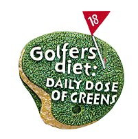 "3"" Golfers Diet: Daily Dose of Greens Plaque Christmas Ornament"