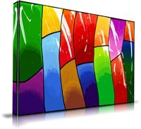 Abstract Artwork Multi-Color Unframed Art Print Painting: Poster Prints Wall Art. 60″ x 40″