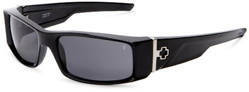 Spy Optic Hielo Polarized Sunglasses,Shiny Black Frame/Grey