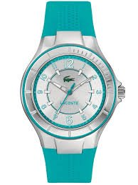 Lacoste Watch, Women's Acapulco Turquoise Silicone Strap 38mm 2000757