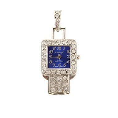 Zcl Zp 16Gb Pendant Blue Watch Pattern Crystal Jewelry Style With Clock Usb Flash Drive