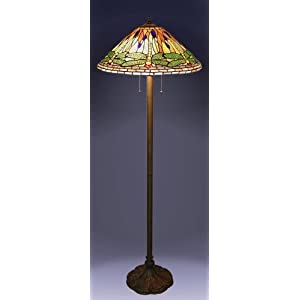 1908 studios tiffany green dragonfly floor lamp lamp