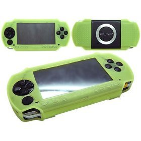 Silicon Skin Protective Cover for Sony PSP 3000 Console (Green)
