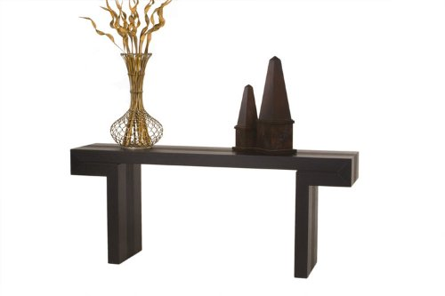 Cheap Diamond Sofa Low Profile Rectangle Console Table Base, Dark Walnut (s0611b)