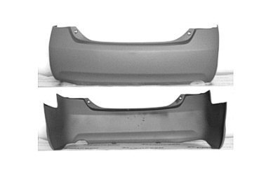 PREMIUM Painted Rear Bumper SE, 4CYL 2007 2008 2009 2010 2011 Toyota Camry