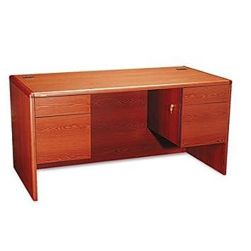 10700 Series Desk, 3/4 Double Pedestals, 60w x 30d x 29 1/2h, Henna Cherry, Sold as 1 Each