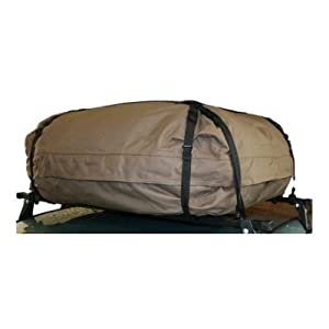 Xl Car Roof Travel/touring Top Cargo Pack Bag/roof Box With Solid Base & Tie Down Quick Release Straps For Bars by PA