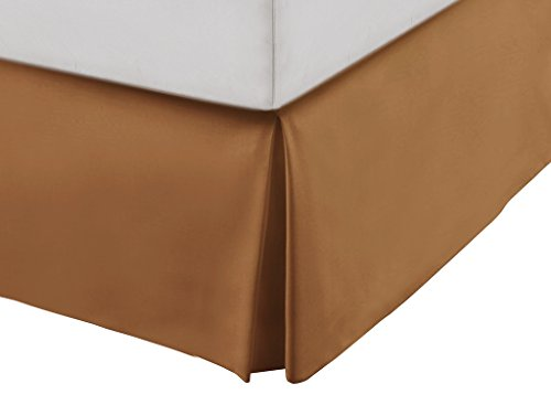 Belleone New York Luxury Home Collection Microfiber Bed Skirts (Full, Camel) (Ca King Bed Skirt compare prices)