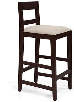 Urban Ladder Stinson Solid Wood Bar Stool (Mahogany)
