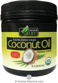100% Extra Virgin Coconut Oil - Cold Pressed Unrefined - Certified Organic & Strictly Kosher, Case of 8 - 16 fl oz Jar