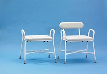 Shower Stool Sherwood Plus Bariatric With Adjustable Back by Patterson Medical