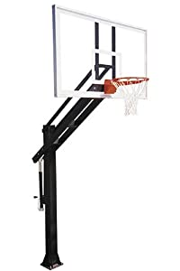 First Team Titan Arena In-Ground Basketball Hoop with 72 Inch Glass Backboard by First Team