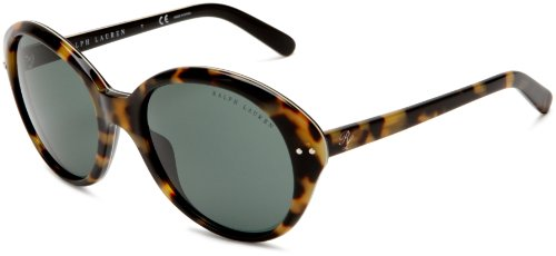 Ralph Lauren Sixties Oval Sunglasses in Havana Black 56 Green