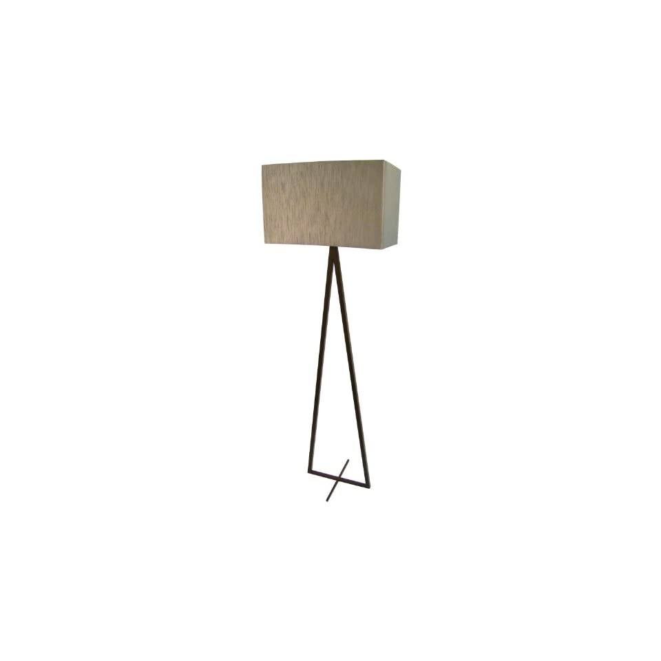 Yosemite Home Decor PFL579 58.75 Inch Floor Lamp with Rectangular Shade