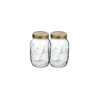 Bormioli Rocco Quattro Stagioni 17 Ounce Canning Jar, Set OF 2