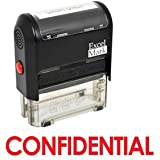 CONFIDENTIAL Self Inking Rubber Stamp - Red Ink (42A1539WEB-R)