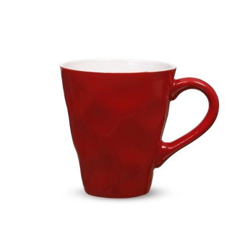 Maxwell & Williams Krinkle Mug, 12.5-Ounce, Red