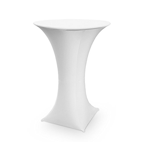 SpandexStretchTableclothTablecoverForCocktailTable,BistroTable,PoseurTableØ28-32inch,40-48 inch High,1Pack(4Legs)White (Cocktail Table Tablecloth compare prices)