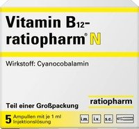 VITAMIN B 12 ratiopharm N Ampullen 5X1ml / 7260796