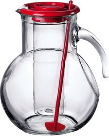 Bormioli Rocco Kufra Jug With Ice Container, Red Lid