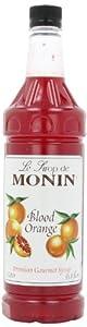 Monin Flavored Syrup, Blood Orange, 33.8-Ounce Plastic Bottles (Pack of 4)